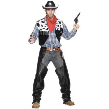 Black Mens Cowboy Costume