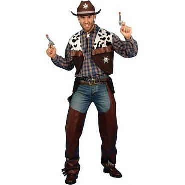 Brown Mens Cowboy Costume