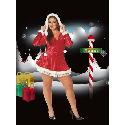 plus size sleigh belle costume