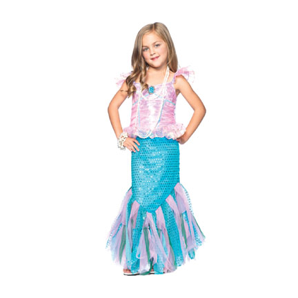 Childrens Mermaid Costumes - Childs Magical Mermaid Costume.  sc 1 st  Halloween Playground : cheap mermaid costumes  - Germanpascual.Com