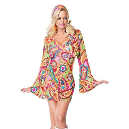 Go-Go Costume - Hippie Chick Costume.  sc 1 st  Halloween Playground & Hippie Chick Costume