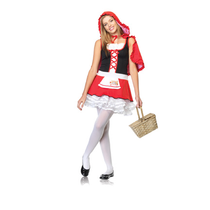 Teen Halloween Costumes - Junior Lil Miss Red Costume.