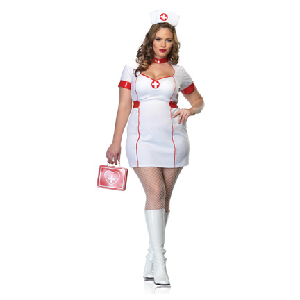 plus size private nurse costume