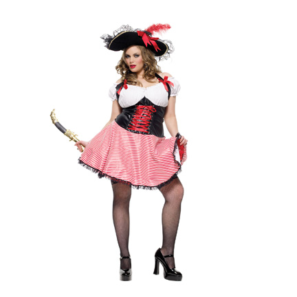 sc 1 st  Halloween Playground & Plus Size Pirate Wench Costume