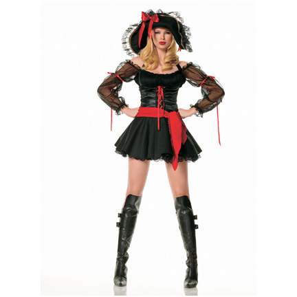Sexy Swashbuckler Pirate Costume  sc 1 st  Halloween Playground & Female Pirate Costumes - Sexy Pirate Costumes and Classic Pirate ...