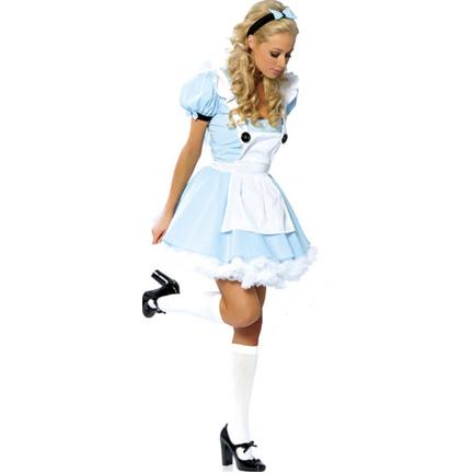 Dress on Disney Alice In Wonderland Wig
