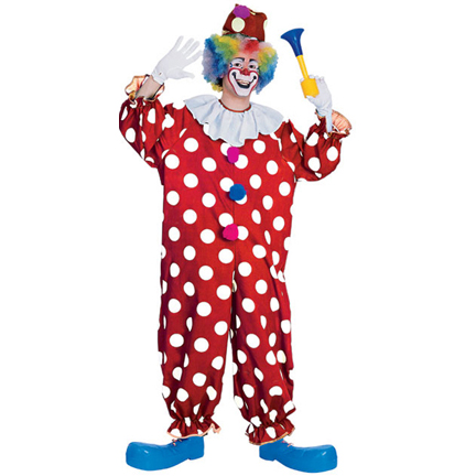 dotted clown costume 55052 clown around in this dotted clown